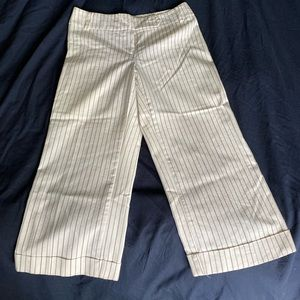 White pinstriped Capri pants